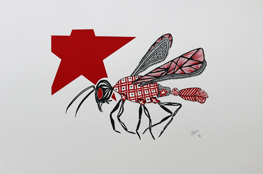 Screen print - Flying ant