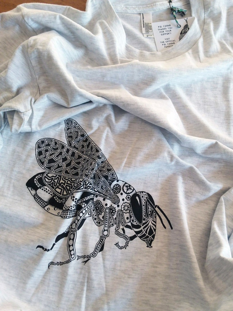 Men - Heather grey with black Bee - L (S001)