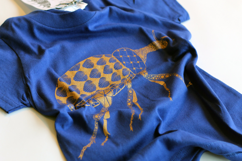 Kids - Lapis blue with golden Beetle - 2yrs (TS001)