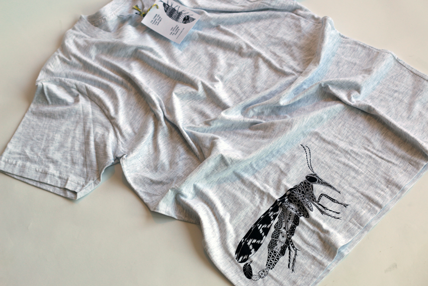 Men - Heather grey with black Scorpionfly - L (S010)