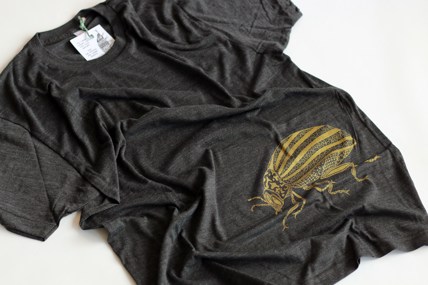 Men - Tri-black with golden Beetle - S (TS081)