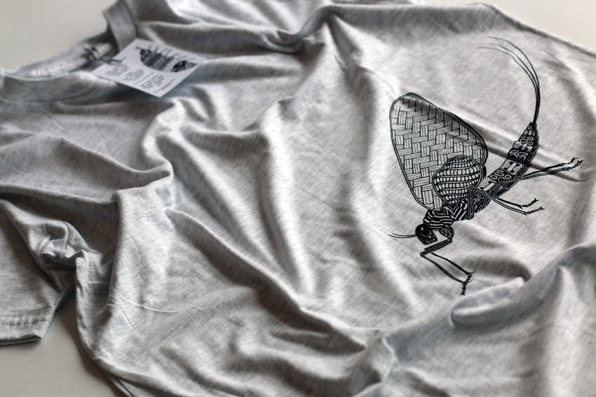 Men - Heather grey with black Mayfly - L (TS031)