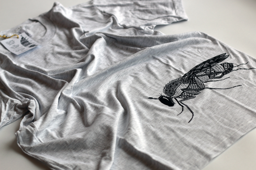 Men - Heather grey with black Long-legged fly - M (TS036)