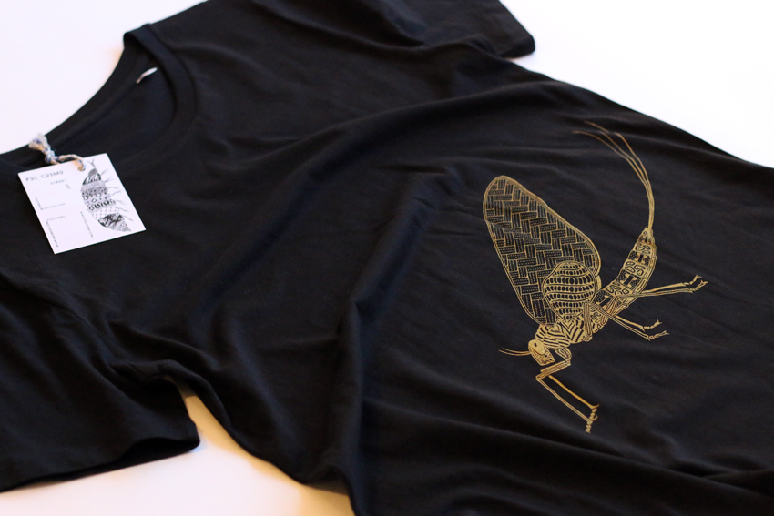 Men - Black with golden Mayfly - S (TS075)