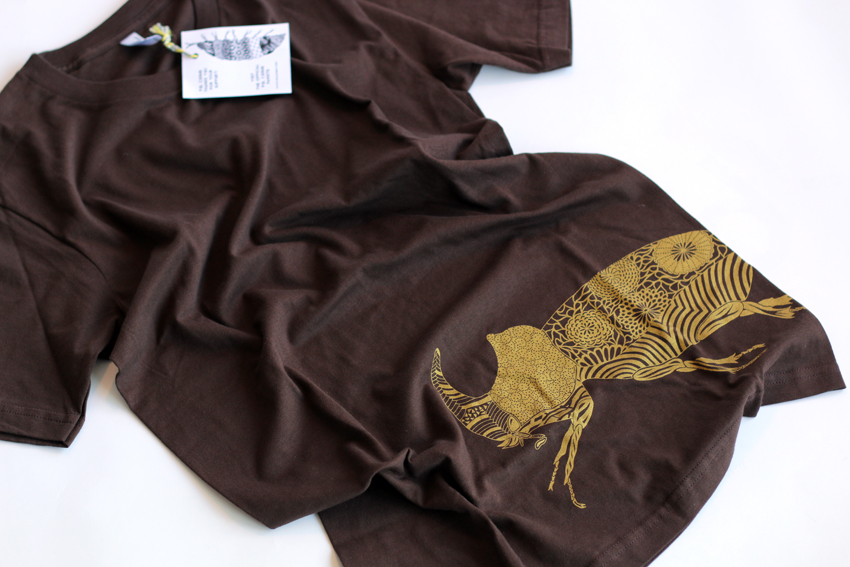 Men - Brown with golden Beetle - S (TS080)