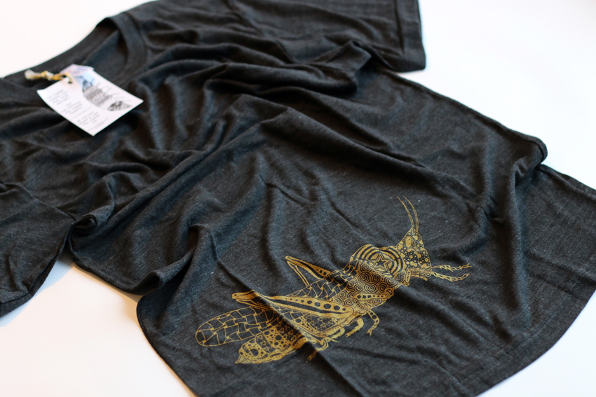 Men - Tri-black with golden Grasshopper - S (TS083)