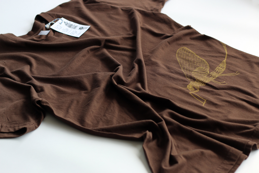 Men - Brown with golden Mayfly - XL (S009)