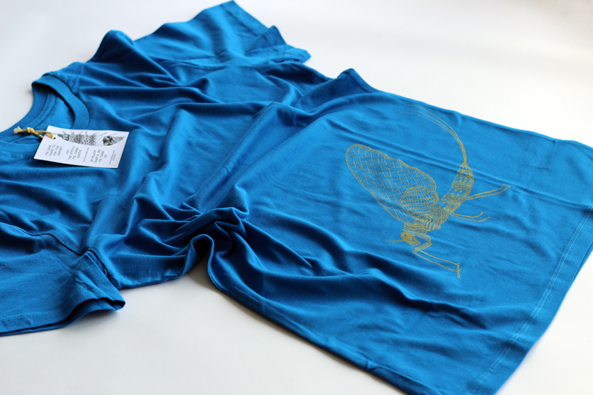 Men - Royal blue with golden Mayfly - M (TS062)