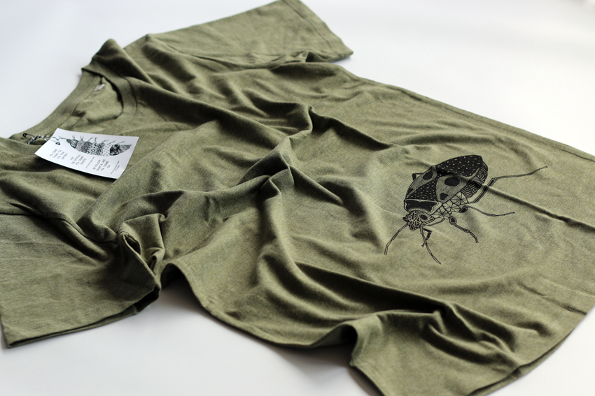 Men - Heather khaki with black Firebug - S (TS067)