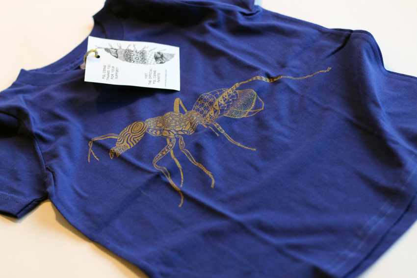 Kids - Lapis blue with golden Ant - 2yrs (TS020)