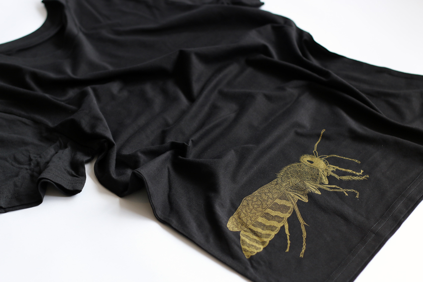 Men - Black with golden Sand wasp - S (TS075)