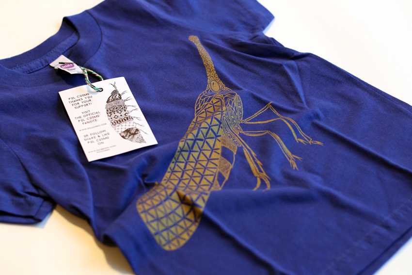 Kids - Lapis blue with golden Lanternfly - 2yrs (TS029)