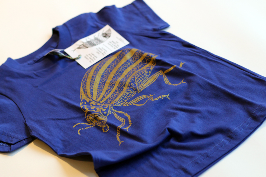 Kids - Lapis blue with golden Beetle - 6yrs (TS034)