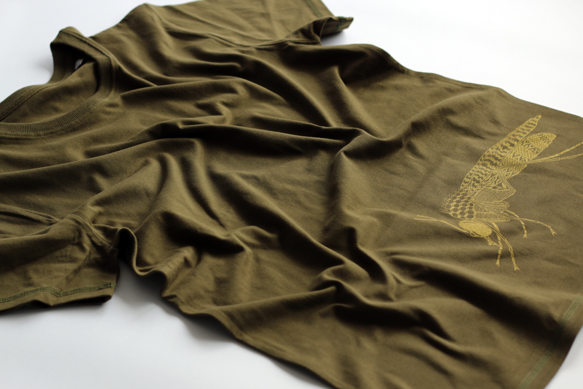 Men - British khaki with golden Midge - M (TS087)