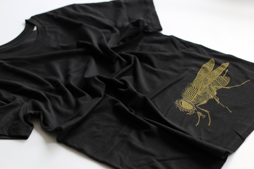Men - Black with golden Fly - M (TS034)