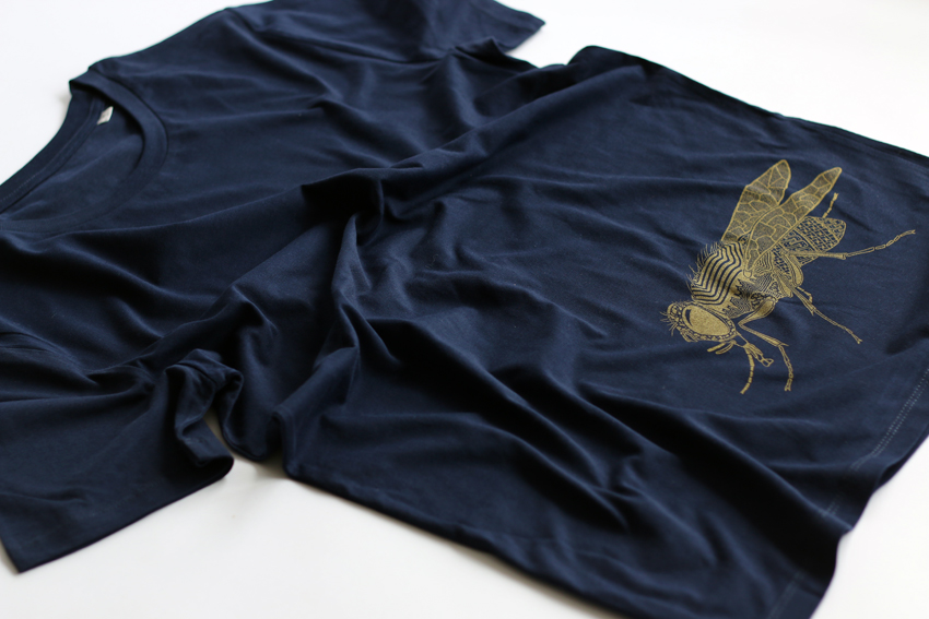 Men - French navy with golden Fly - M (TS086)