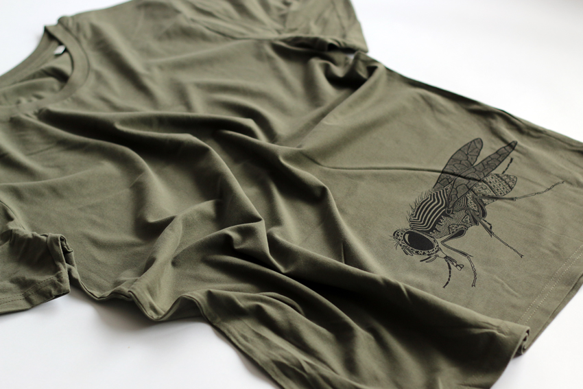 Men - Khaki with black Fly - L (TS095)