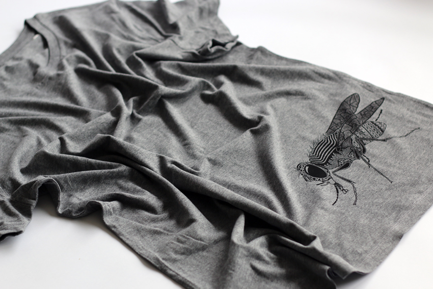 Men - Mid heather grey with black Fly - XL (TS097)